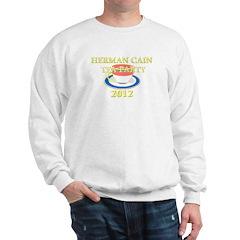 2012 herman cain tea party Sweatshirt