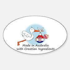 Stork Baby Croatia Australia Decal