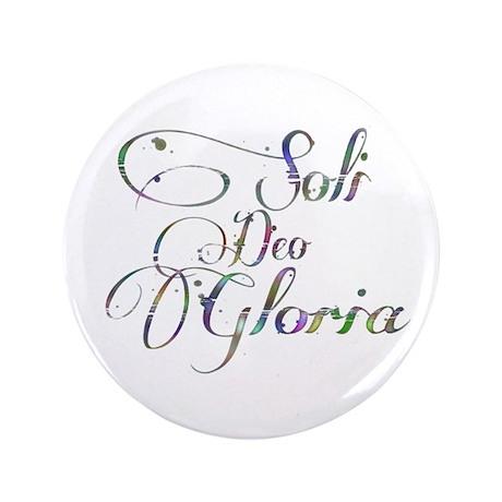 "Soli Deo Gloria 3.5"" Button (100 pack)"