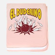El Duderino Bowling baby blanket
