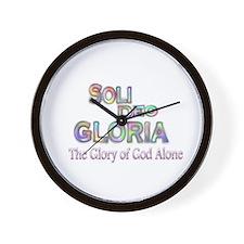Soli Deo Gloria Wall Clock