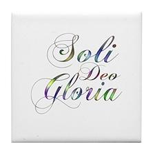 Soli Deo Gloria Tile Coaster