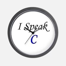 """I Speak C"" Wall Clock"
