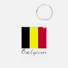 Belgium (Flag, International) Keychains