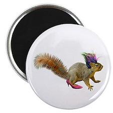 Dress-up Squirrel Magnet