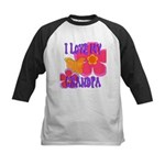Love Grandpa Kids Baseball Jersey