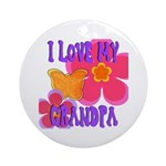 Love Grandpa Ornament (Round)