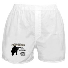 Cute Military boyfriend Boxer Shorts