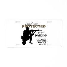 Cute Marine boyfriend Aluminum License Plate