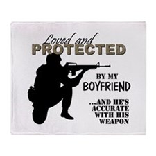 Cute Seabee love Throw Blanket