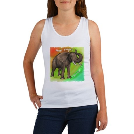 Elephant Never Forget Women's Tank Top