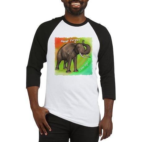 Elephant Never Forget Baseball Jersey
