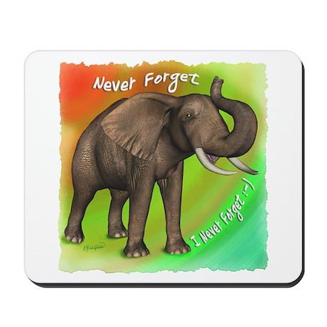 Elephant Never Forget Mousepad