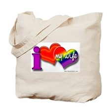 I love my wife - gay Tote Bag