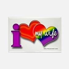 I love my wife - gay Rectangle Magnet