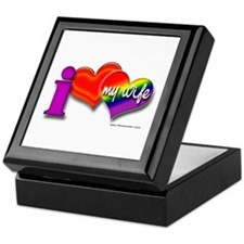 I love my wife - gay Keepsake Box