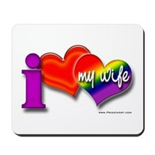 I love my wife - gay Mousepad