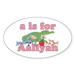 A is for Aaliyah Decal