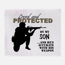 Funny Military mom Throw Blanket