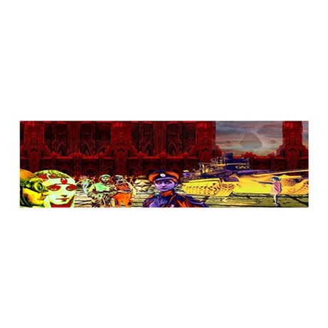 Blood Red Towers 42x14 Wall Peel