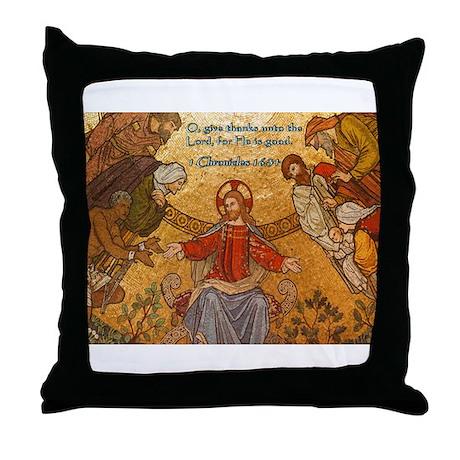 1 Chronicles 16:34 Throw Pillow
