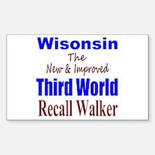 Wisconsin 3rd World Sticker (Rectangle 10 pk)