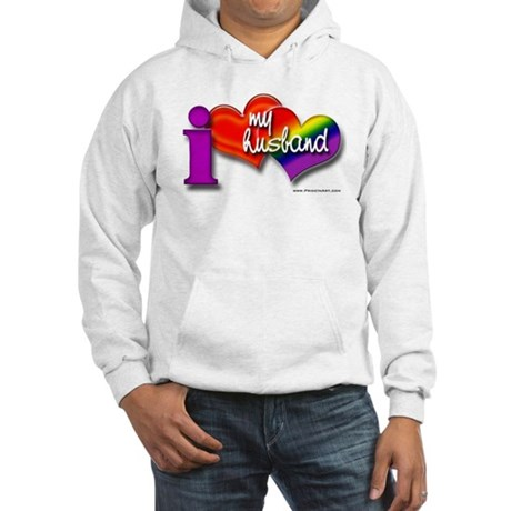 I love my husband - gay Hooded Sweatshirt