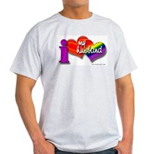 I love my husband - gay Ash Grey T-Shirt