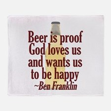Beer is Proof Throw Blanket