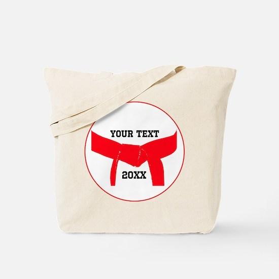 Custom Martial Arts Red Belt Tote Bag