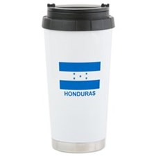 Honduran Flag (labeled) Travel Mug