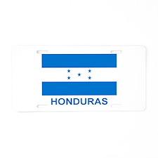 Honduran Flag (labeled) Aluminum License Plate