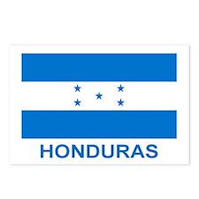 Honduran Flag (labeled) Postcards (Package of 8)