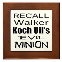 Walker: Koch's Evil Minion Framed Tile