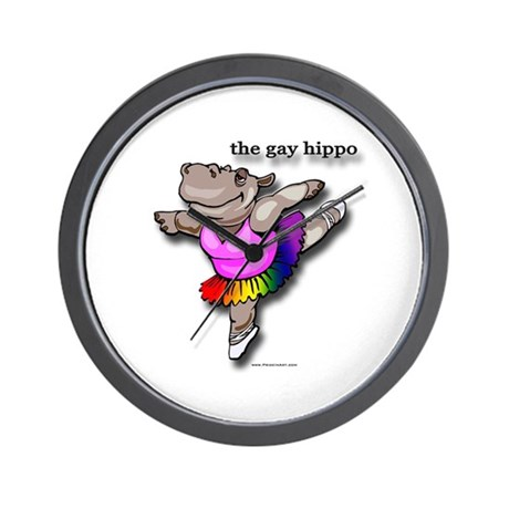 The Official Gay Hippo Wall Clock