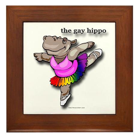 The Official Gay Hippo Framed Tile