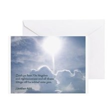Matthew 6:33 Greeting Card