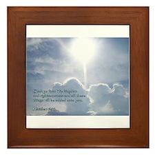 Matthew 6:33 Framed Tile