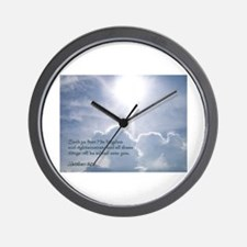 Matthew 6:33 Wall Clock