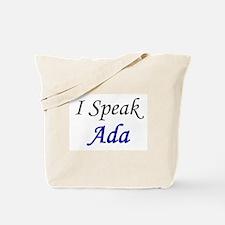 """I Speak Ada"" Tote Bag"