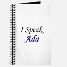 """I Speak Ada"" Journal"