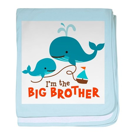 Big Brother - Mod Whale baby blanket