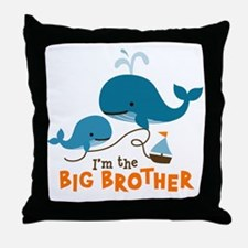 Big Brother - Mod Whale Throw Pillow