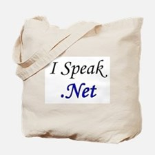 """I Speak .Net"" Tote Bag"