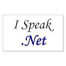 """I Speak .Net"" Rectangle Decal"