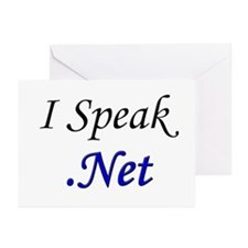 """""""I Speak .Net"""" Greeting Cards (Pk of 10)"""