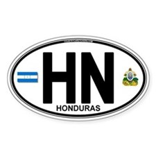 Honduras Euro Oval (HN) Decal