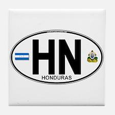 Honduras Euro Oval (HN) Tile Coaster