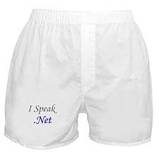 """""""I Speak .Net"""" Boxer Shorts"""