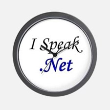 """I Speak .Net"" Wall Clock"